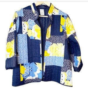 Alfred dunner quilted patchwork jacket